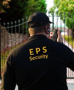 security guard doing his job